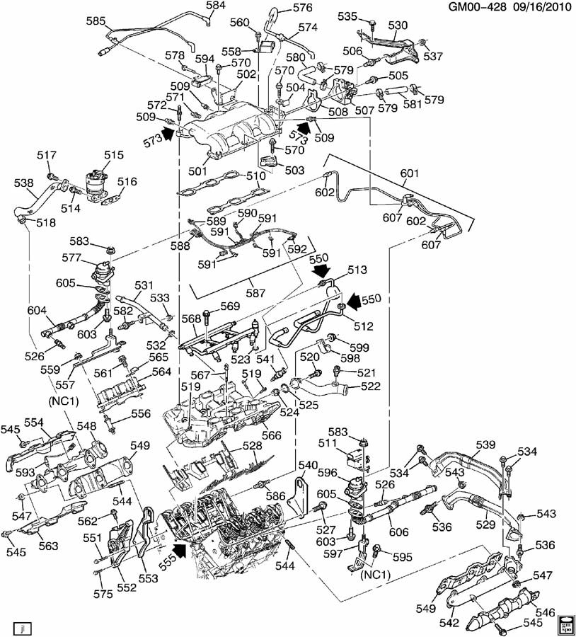 ENGINE ASM-3.4L V6 PART 5 MANIFOLDS & FUEL RELATED PARTS