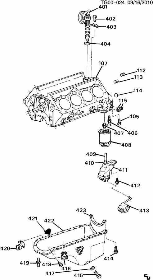 ENGINE ASM-6.2L V8 DIESEL PART 4 OIL PUMP,PAN & RELATED PARTS