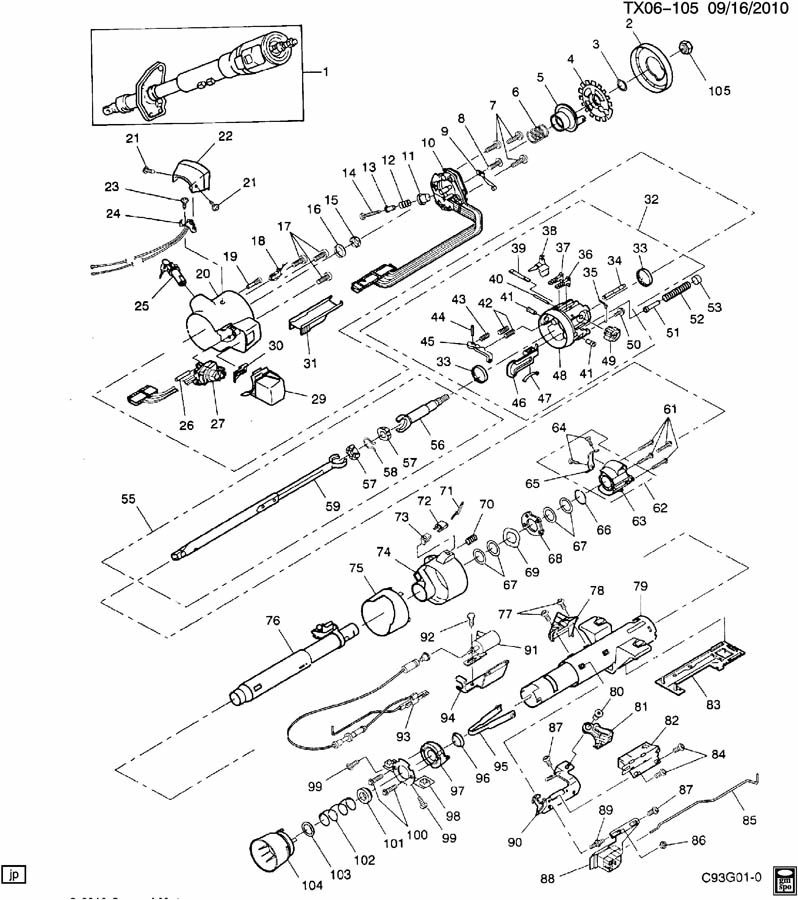89 GMC Steering Column Diagram. GM. Wiring Diagrams