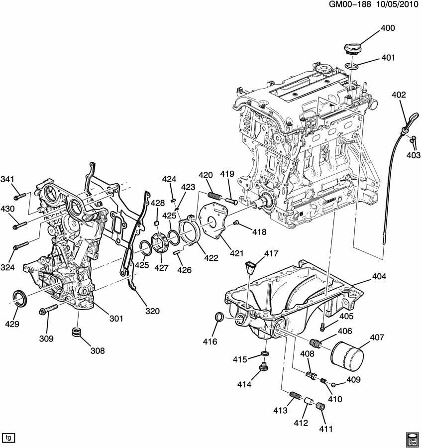 ENGINE ASM-1.4L L4 PART 4 OIL PUMP,PAN & RELATED PARTS