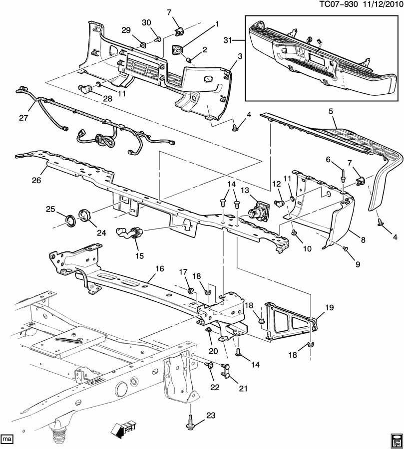 CK1(43-53) BUMPER/REAR (REAR PARKING ASSIST UD7);