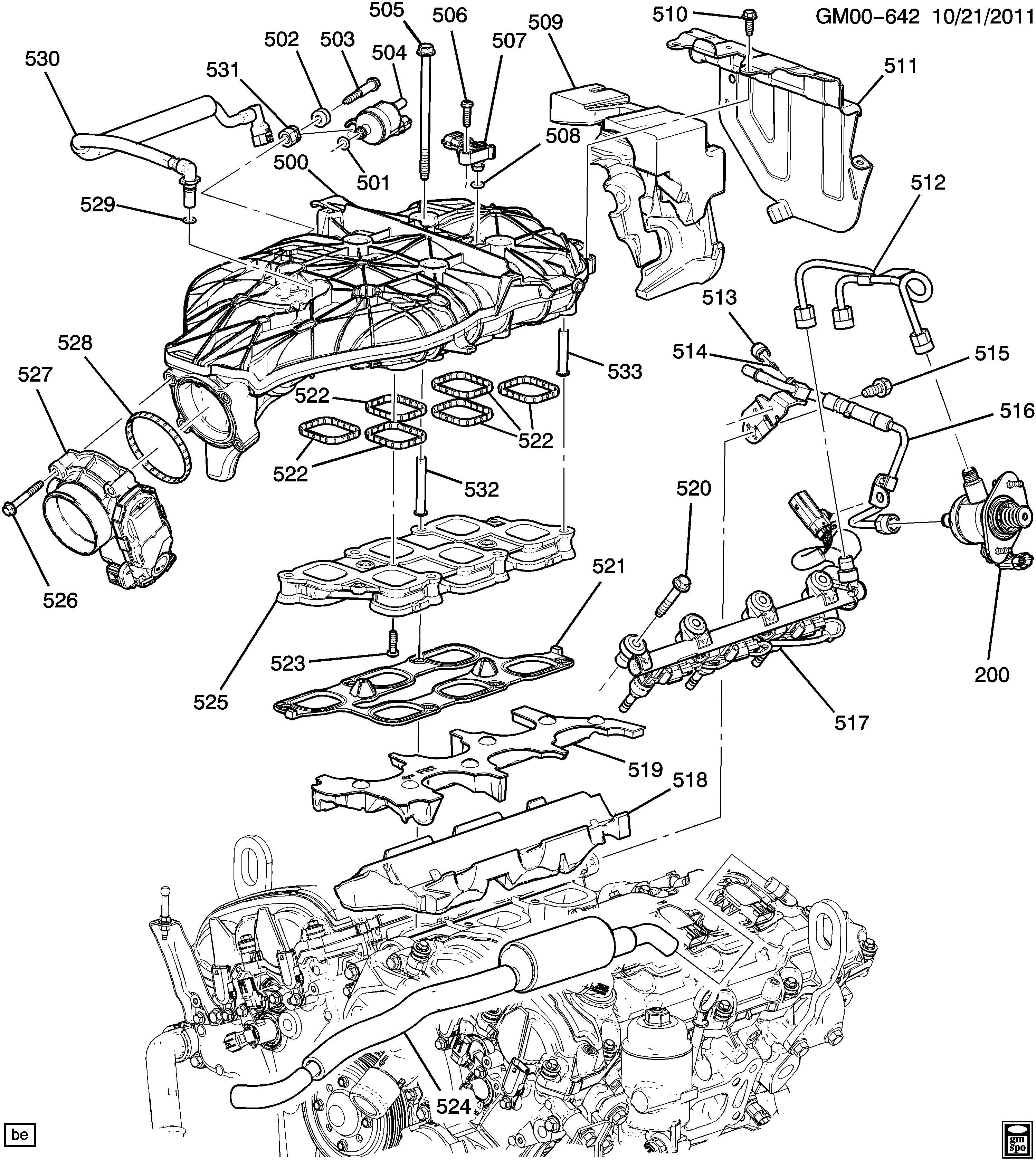 Engine Asm 3 6l V6 Part 5 Manifolds Amp Related Parts
