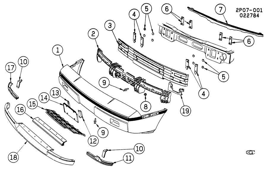 1986 Pontiac Fiero BUMPER/FRONT