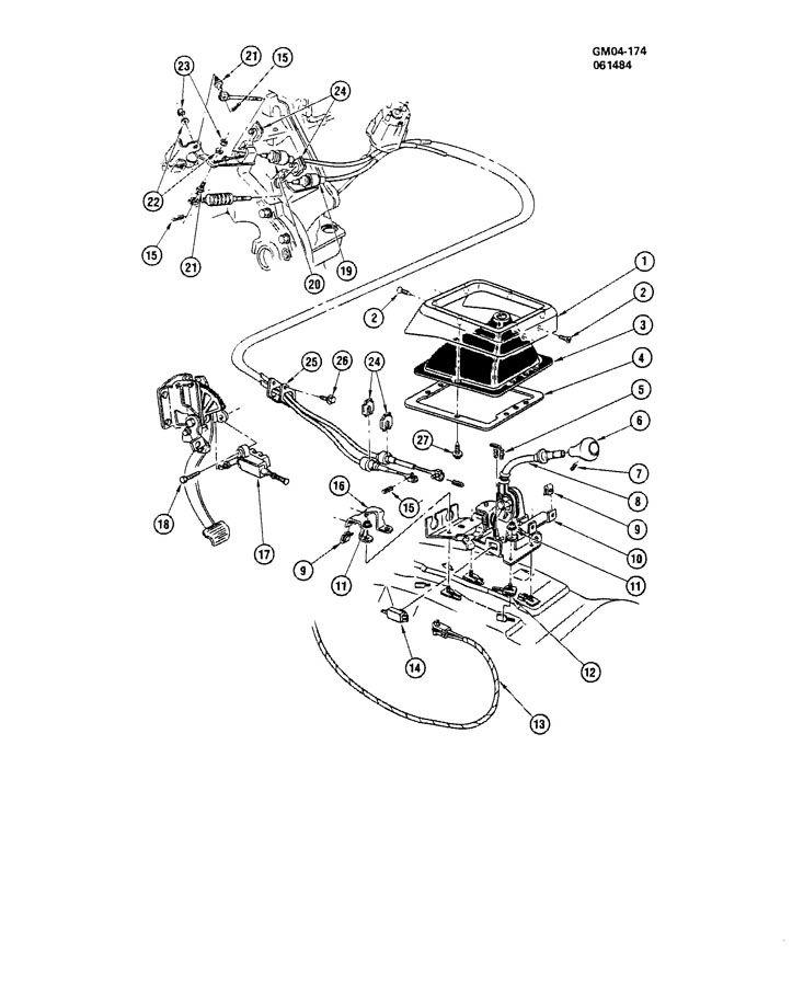 Chevrolet Citation SHIFT CONTROLS/MANUAL TRANSMISSION