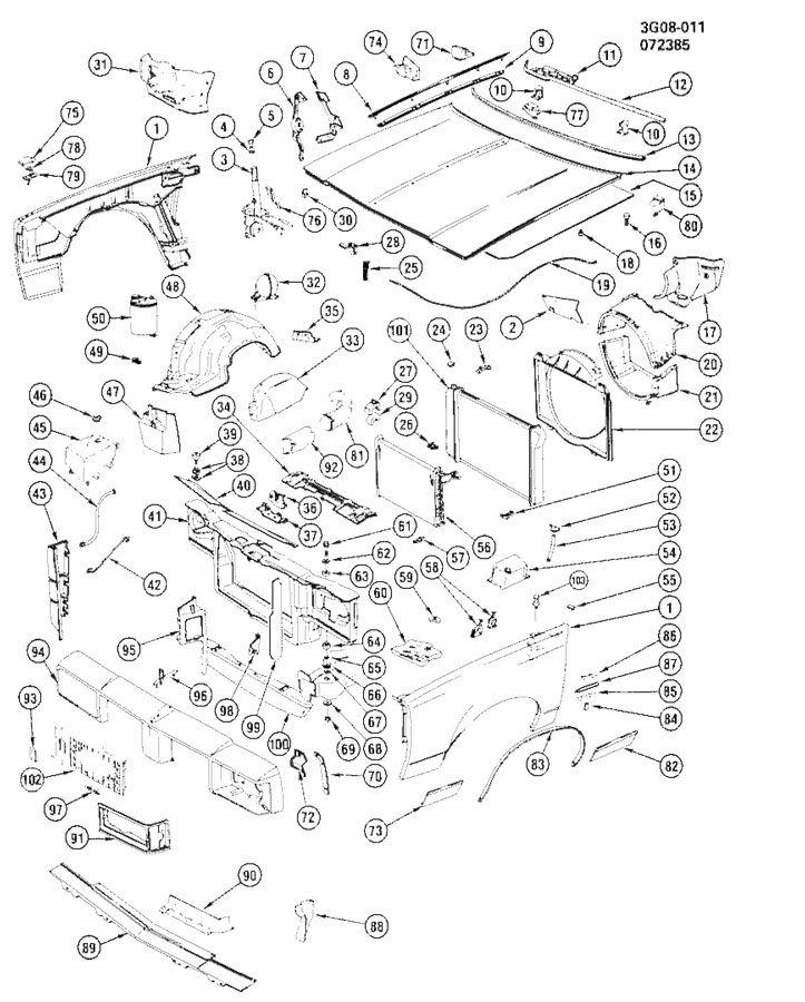 1987 Oldsmobile Cutlass SHEET METAL/FRONT END