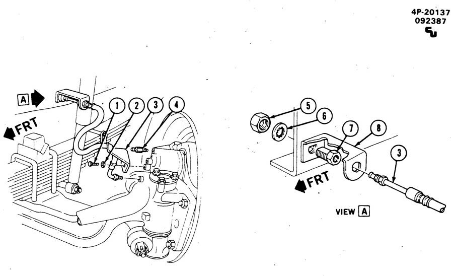 BRAKE LINES/FRONT AXLE; FRONT HYDRAULIC BRAKE HOSES