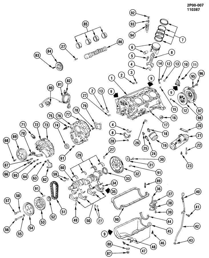 ENGINE ASM-2.8L V6 PART 1
