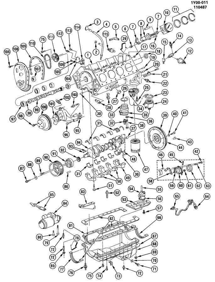 ENGINE ASM-5.7L V8 PART 1