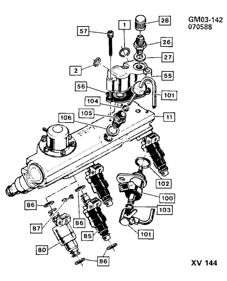 FUEL INJECTOR RAIL MPFI
