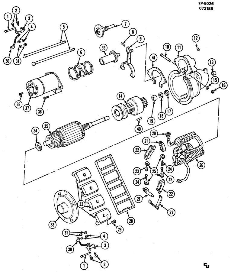 Cadillac ; 1998500,1998501); STARTER MOTOR; STARTER MOTOR