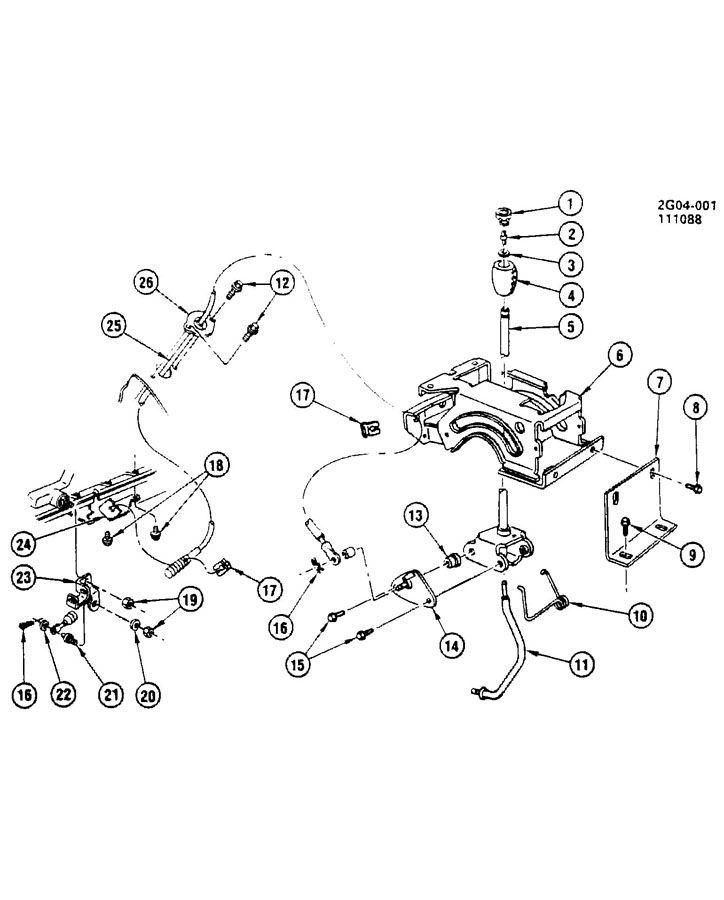 Pontiac Bonneville SHIFT CONTROL/AUTOMATIC TRANSMISSION FLOOR
