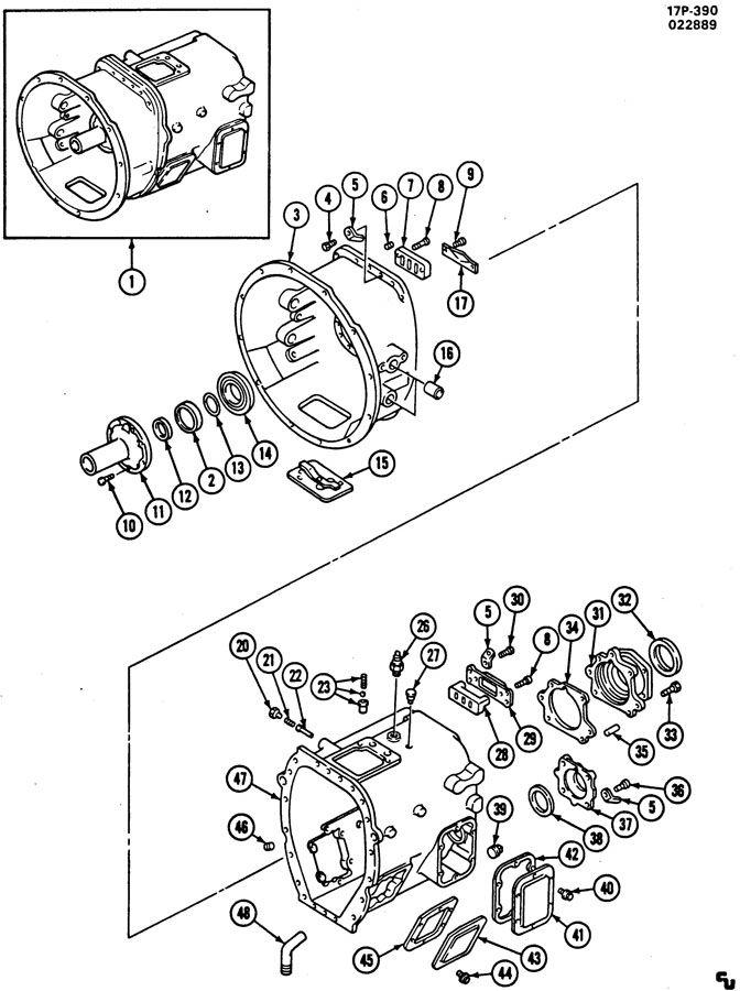 SPICER ES42-5D 5 SPEED TRANSMISSION IMRP CASE SECTION