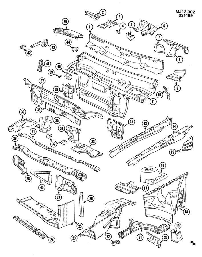 1989 Chevrolet Cavalier SHEET METAL/BODY-ENGINE
