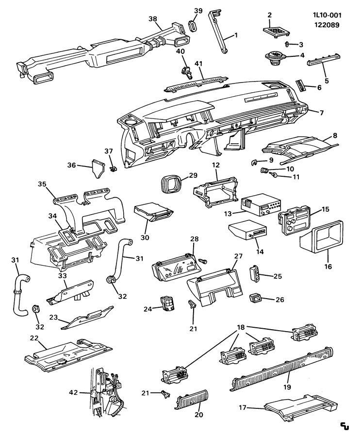 Chevrolet Beretta INSTRUMENT PANEL