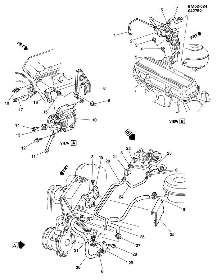 A.I.R. PUMP & RELATED PARTS-4.5L V8