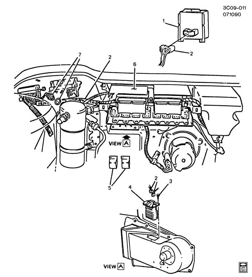1989 Cadillac Allante A/C CONTROL SYSTEM/ELECTRICAL