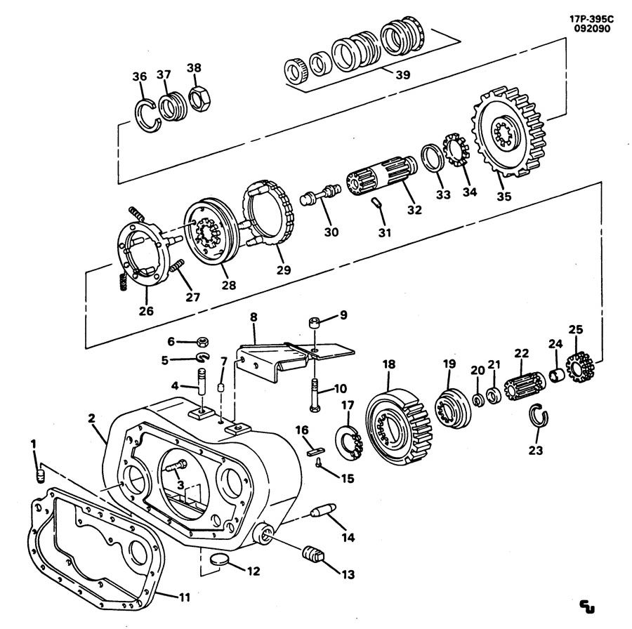 RT7608LL 8-SPEED MANUAL TRANSMISSION IMTH AUXILIARY