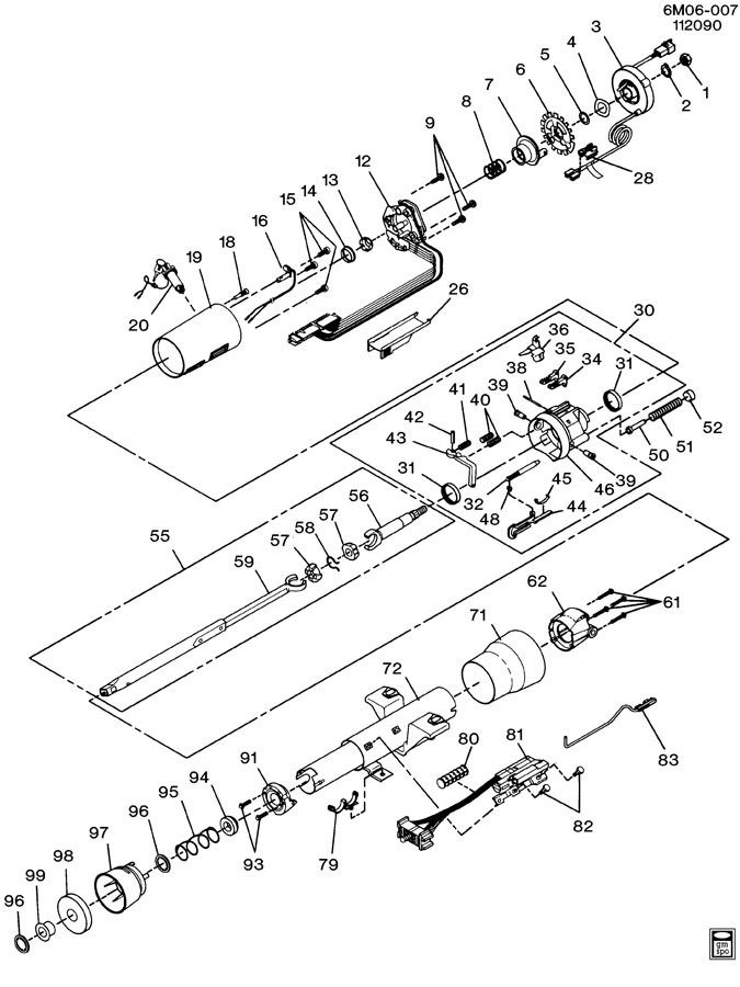 Service manual [1990 Buick Estate Tilt Steering Column