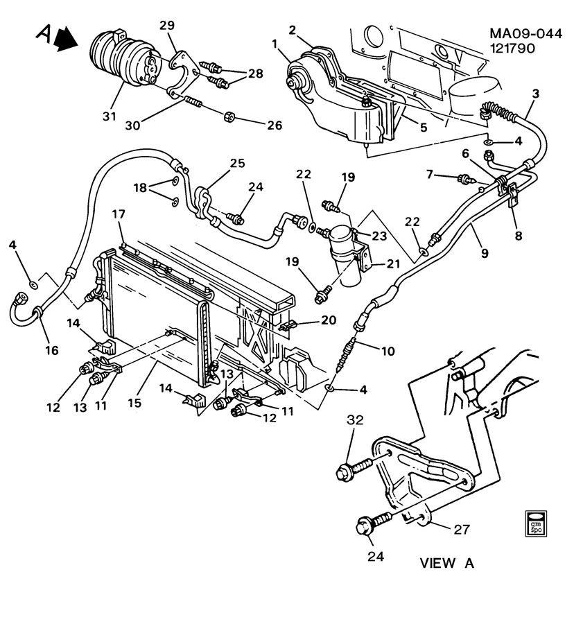 1987 Chevrolet R10 A/C REFRIGERATION SYSTEM