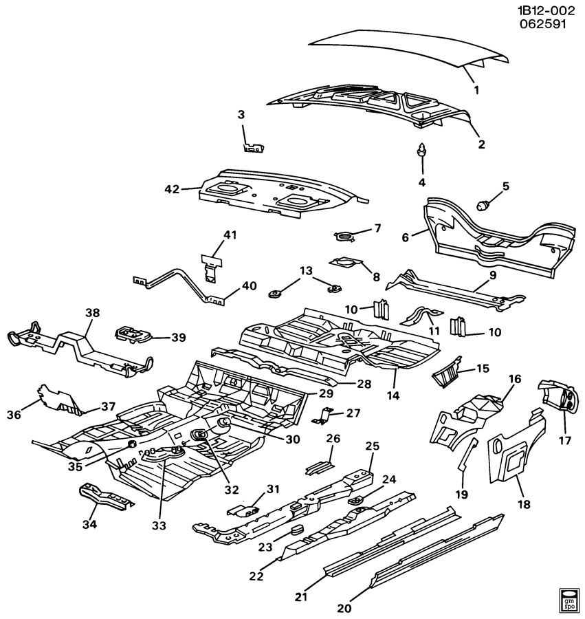 1995 Chevrolet Impala SHEET METAL/BODY PART 3 UNDERBODY