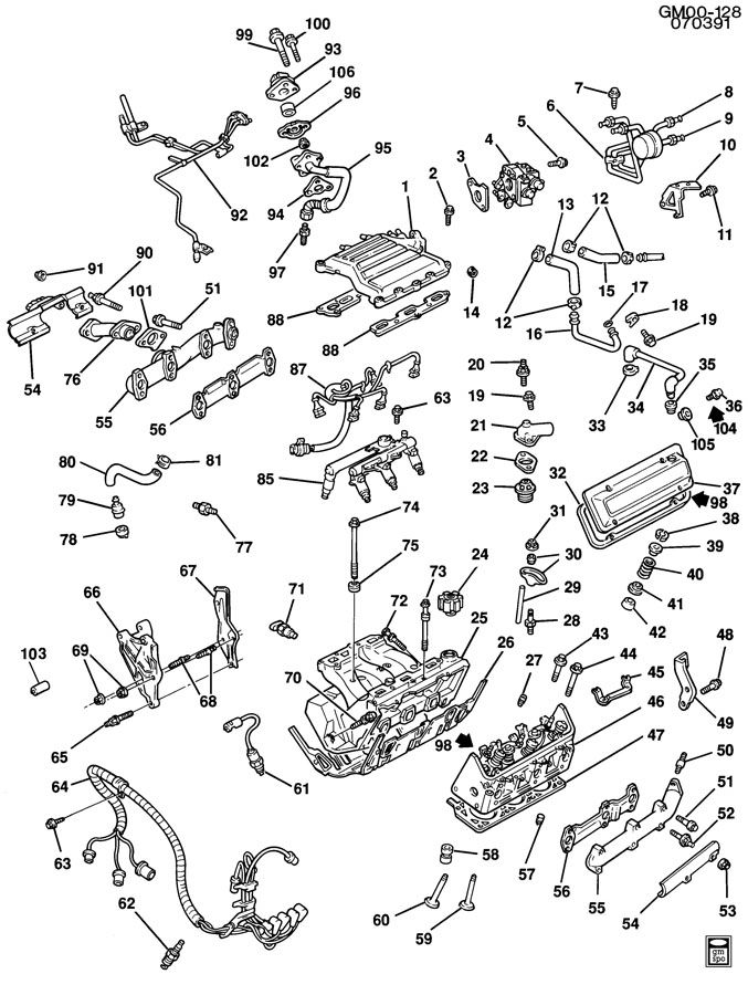 1990 Chevrolet Cavalier ENGINE ASM-3.1L V6 PART 2
