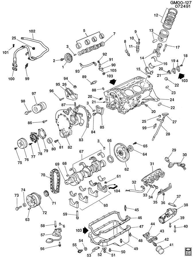 1990 gmc v6 engine diagram
