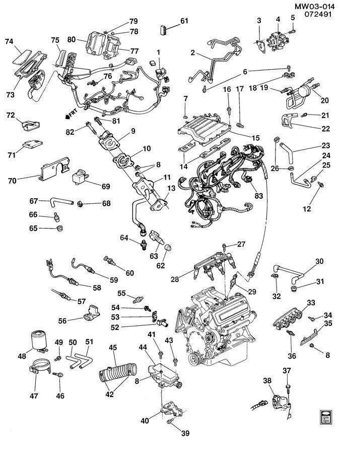 1991 Buick Regal EMISSION CONTROLS-V6