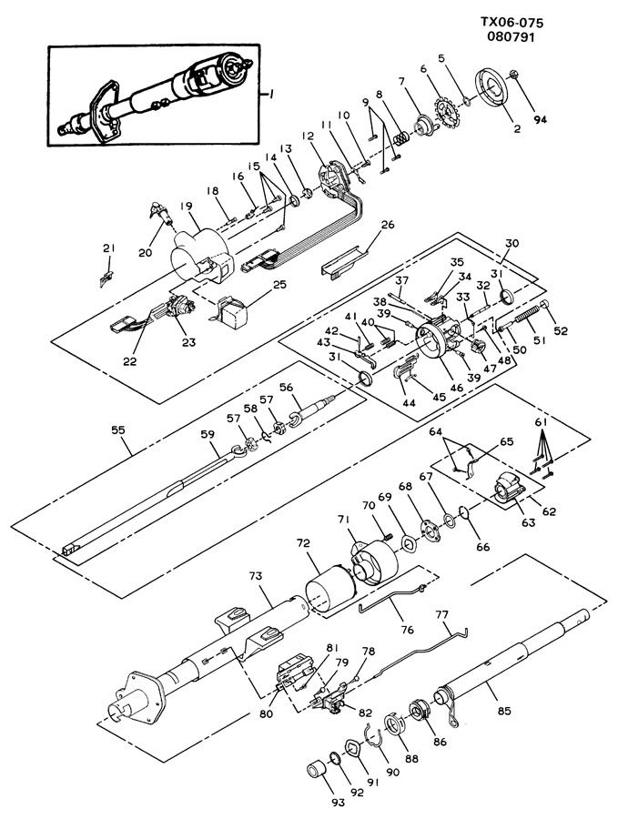 Service manual [1992 Geo Storm Tilt Steering Column Repair