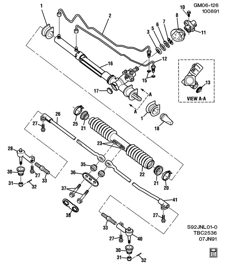 STEERING ASM/RACK & PINION-CENTER TAKE OFF; STEERING GEAR