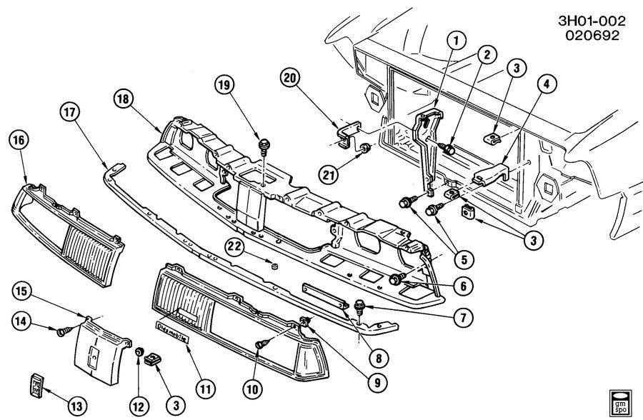 Oldsmobile GRILLE/RADIATOR