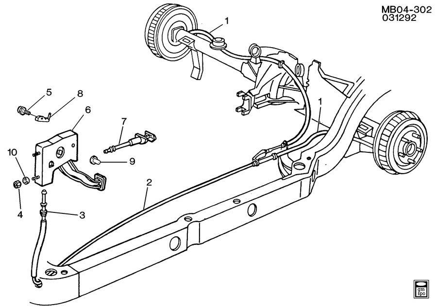 Chevrolet Caprice PARKING BRAKE SYSTEM