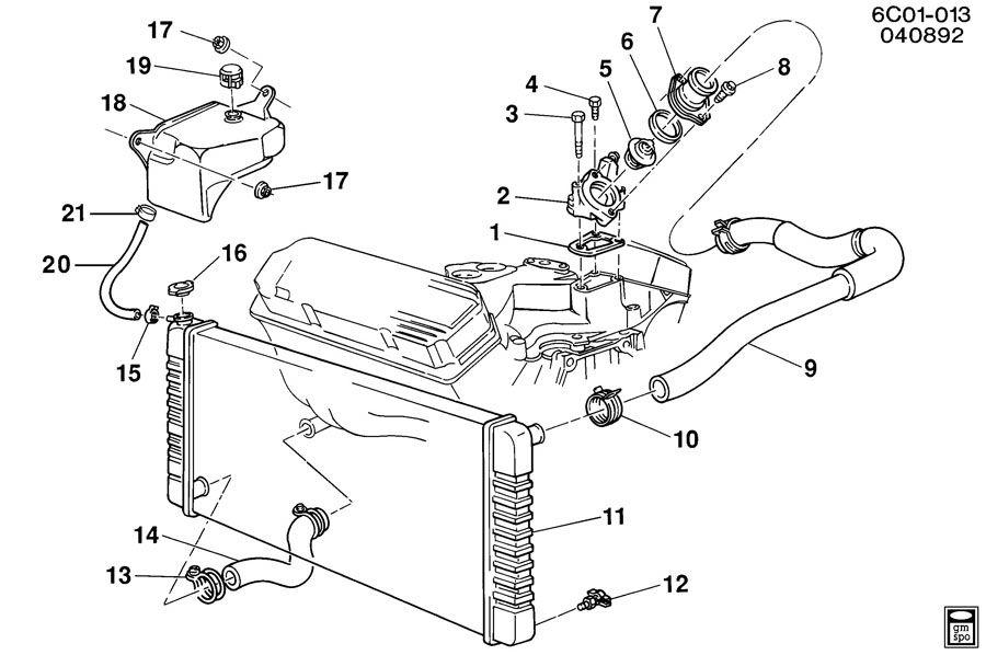 91 Cadillac deville coolant line hose