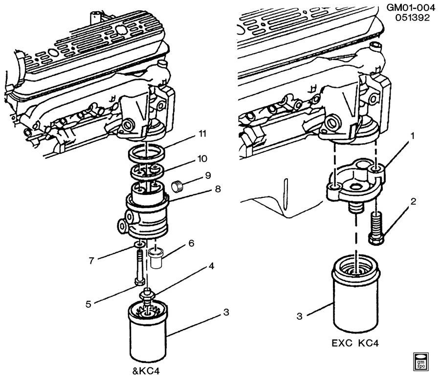ENGINE OIL FILTER MOUNTING