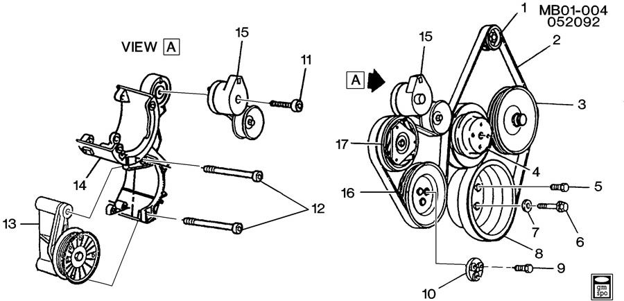 Buick PULLEYS & BELTS-ACCESSORY DRIVE