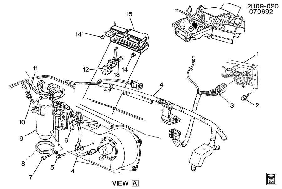Pontiac Bonneville A/C CONTROL SYSTEM ELECTRICAL