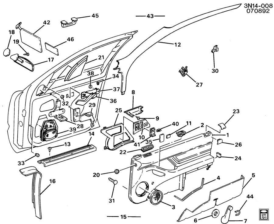 1994 Oldsmobile Cutlass TRIM/FRONT DOOR