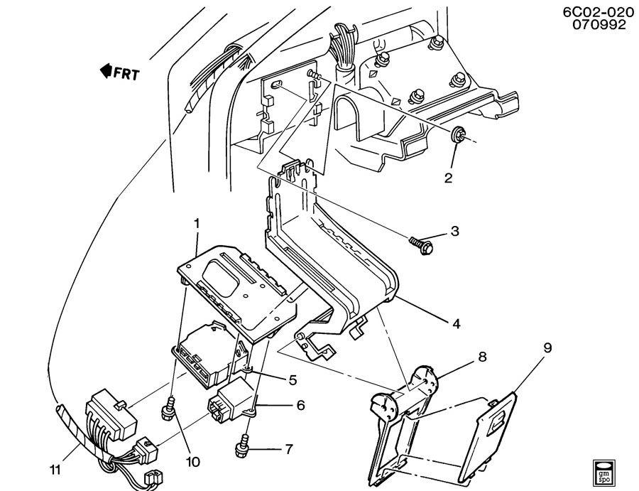 1991 Cadillac Deville ALARM SYSTEM/ANTI THEFT