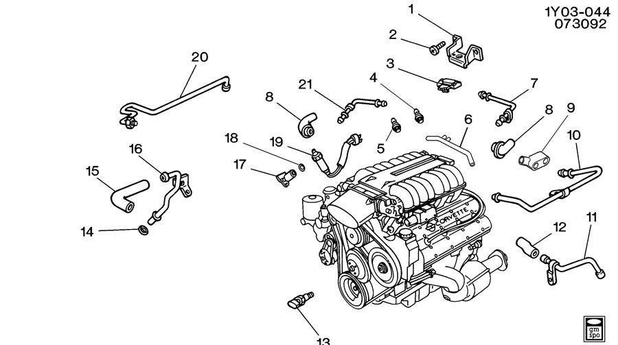 1992 Corvette Engine Diagram Sensors. Corvette. Auto