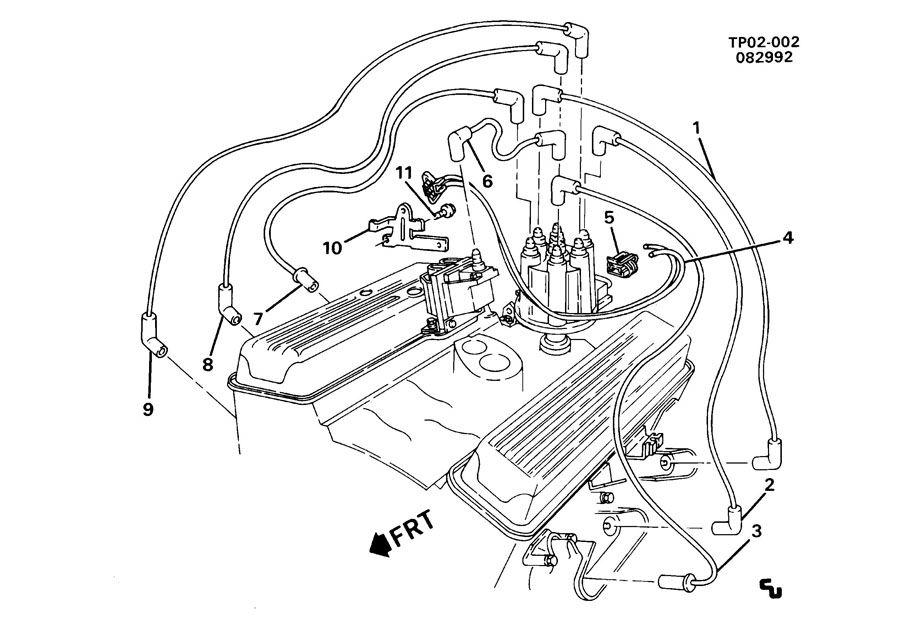 Chevrolet P30 P3 SPARK PLUG WIRING (LB4/4.3Z);
