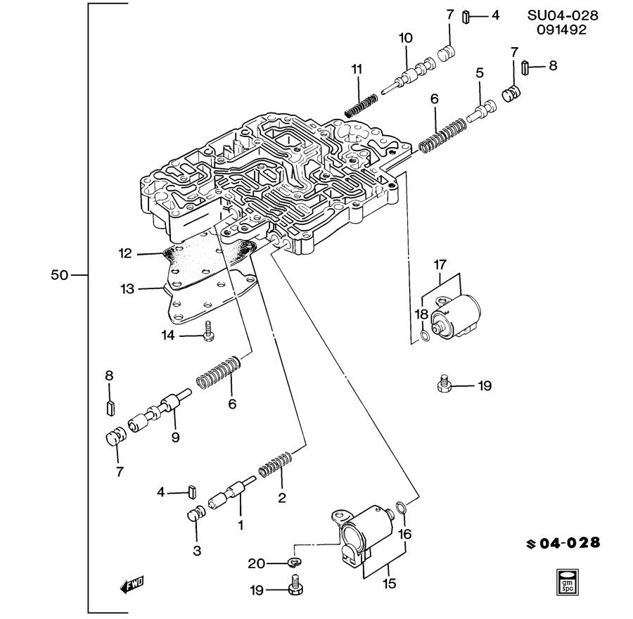 AUTOMATIC TRANSMISSION LOWER VALVE BODY