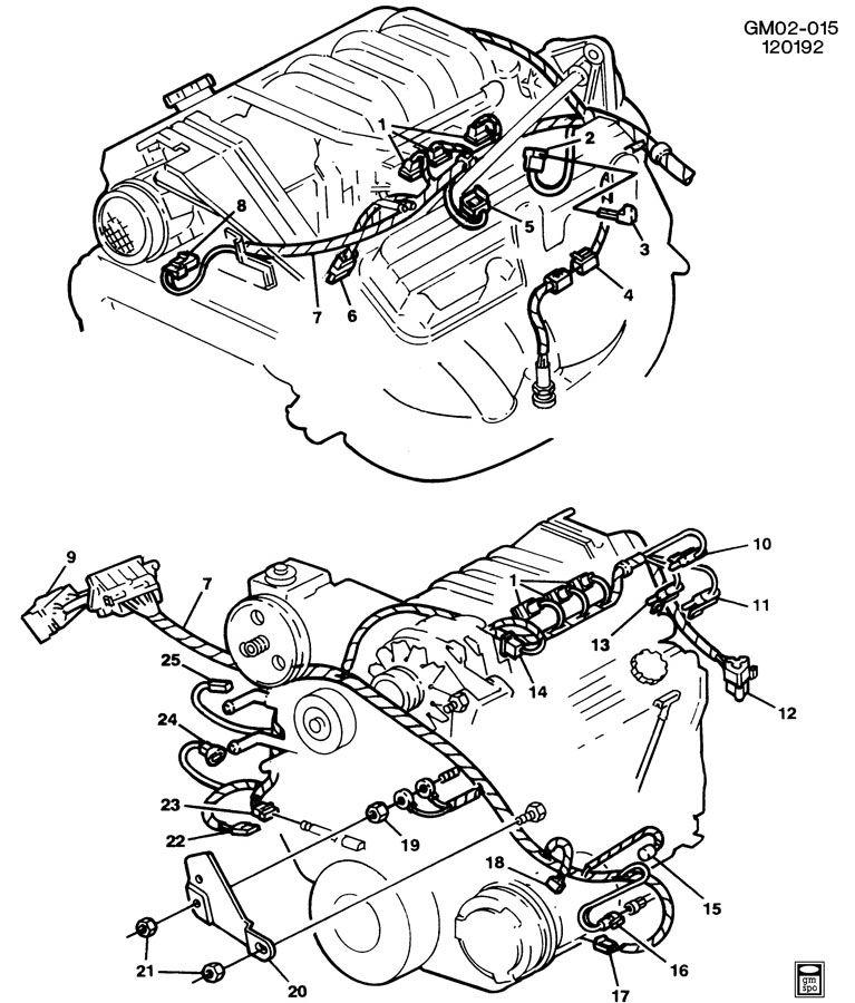 1993 Pontiac WIRING HARNESS/ENGINE-V6 3.8L
