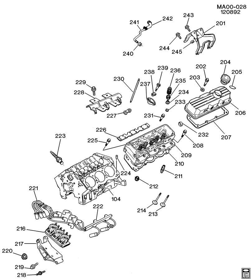 ENGINE ASM-3.3L V6 PART 2 CYLINDER HEAD & RELATED PARTS