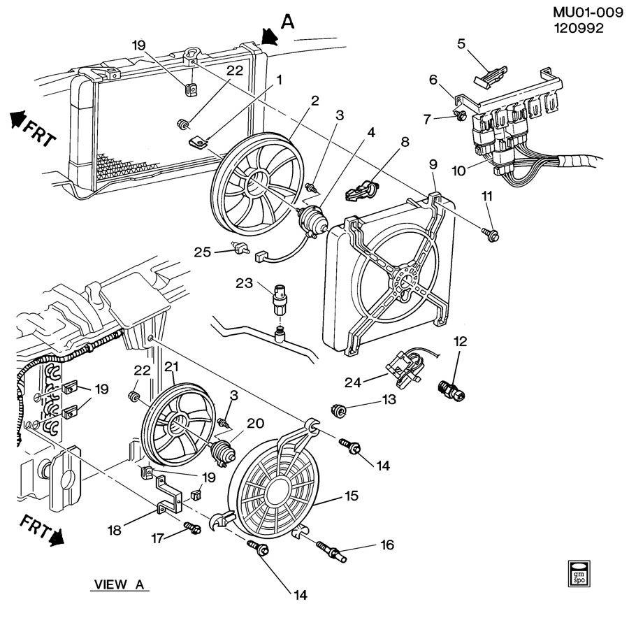 Chevrolet Lumina ENGINE COOLANT FAN