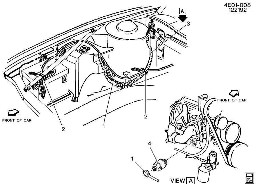 1992 Buick Riviera ENGINE BLOCK HEATER