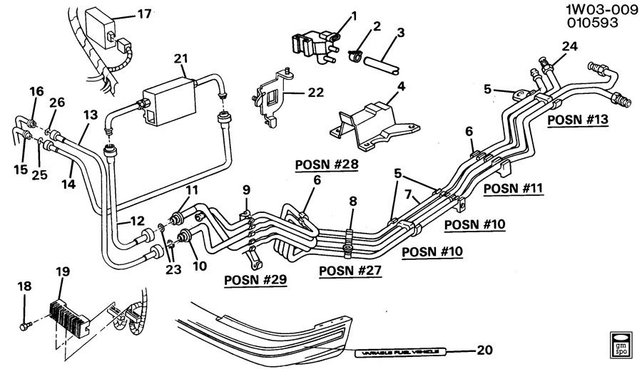 FUEL SUPPLY SYSTEM-ENGINE PARTS & FUEL LINES