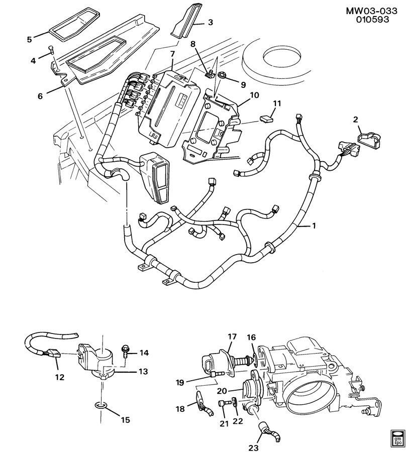 1992 Chevrolet Lumina APV E.C.M. MODULE & WIRING HARNESS