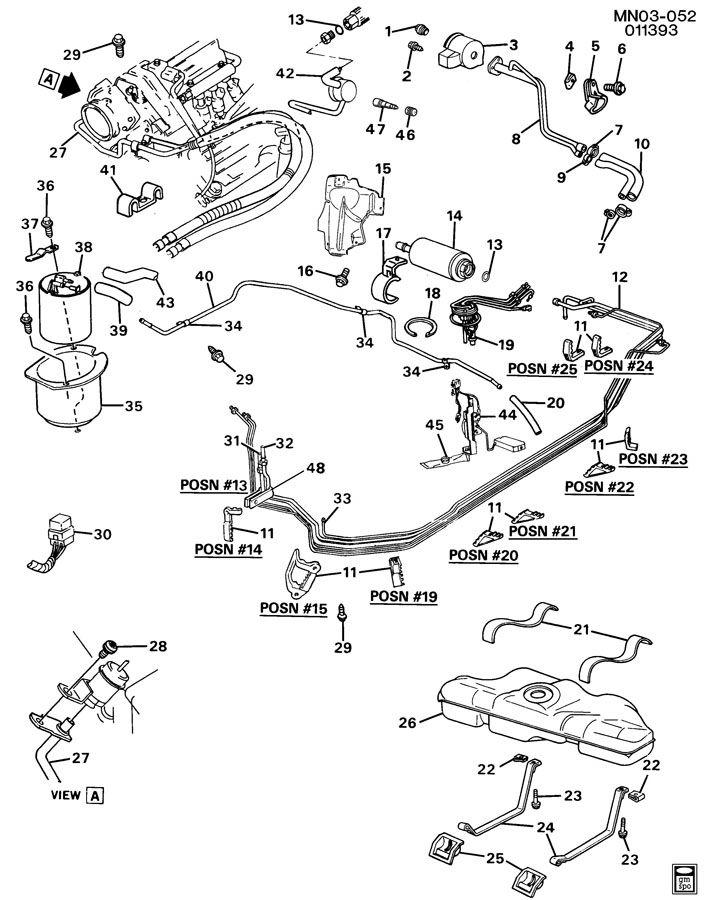 Buick Skylark FUEL SUPPLY SYSTEM-V6 3.3L