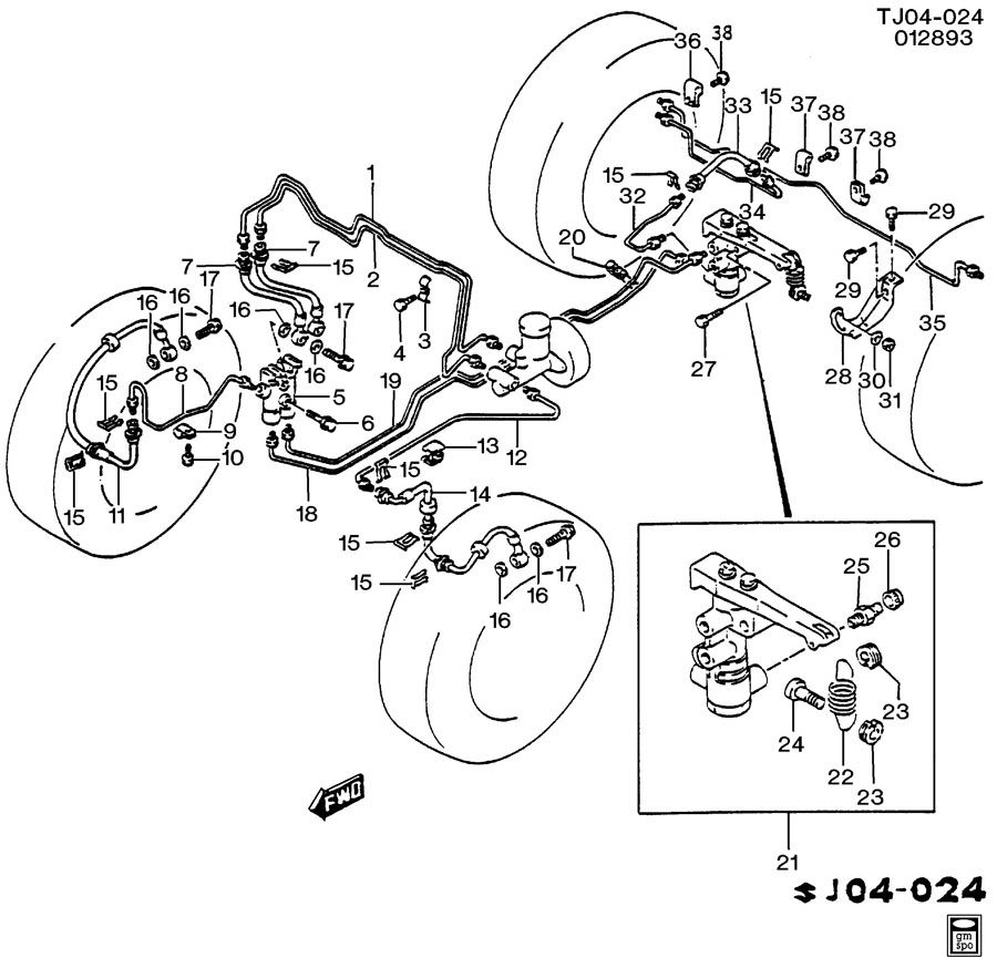 Service manual [1994 Geo Tracker Rear Break Replacement