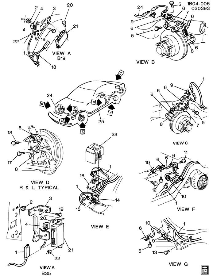 1991 Chevrolet Caprice BRAKE SYSTEM/ANTILOCK ELECTRICAL