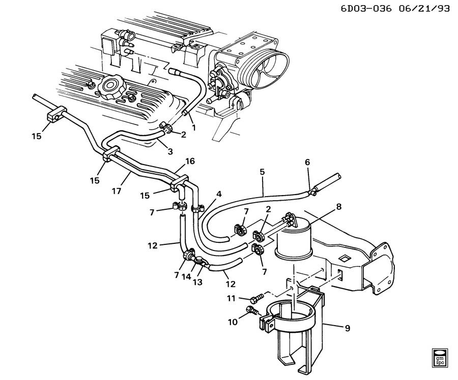 Chevrolet Caprice VAPOR CANISTER & RELATED PARTS-V8
